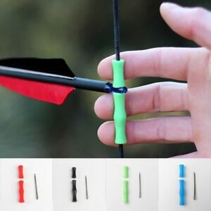 Archery Shooting Finger Guard No Glove Bow String Silicone Protector Tab Per
