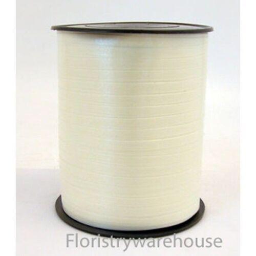 Curling Balloon Ribbon 5mm x 500m Wedding Ivory Cream