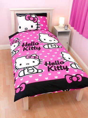 Original Sanrio Hello Kitty Hearts Bettwäsche 135x200cm Bettgarnitur NEU PINK