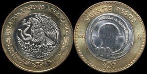 Mexico 20 Pesos. 2013 (Bi-Metallic. Coin KM#969. Unc) Mexican Army