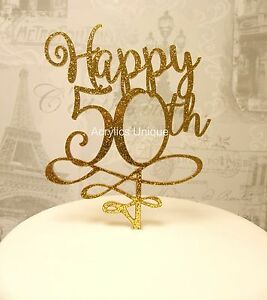 Image Is Loading 50th Birthday Cake Topper Acrylic 50