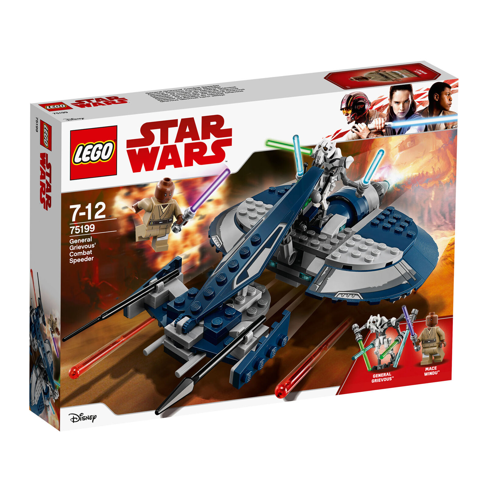 75199 LEGO Star Wars General Grievous' Combat Speeder 157 Pieces Age 7+ New 2018