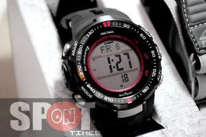 Casio-Protrek-Triple-Sensor-Multiband-6-Solar-Men-039-s-Watch-PRW-3000G-1