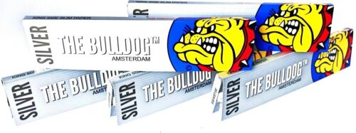 THE BULLDOG AMSTERDAM Long Papers Slim silver 5x Päckchen a 32.Blatt CKS