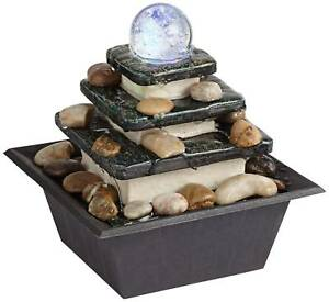 Zen-Indoor-Water-Fountain-with-LED-Light-Rolling-Ball-3-Tier-for-Table-Top-Desk