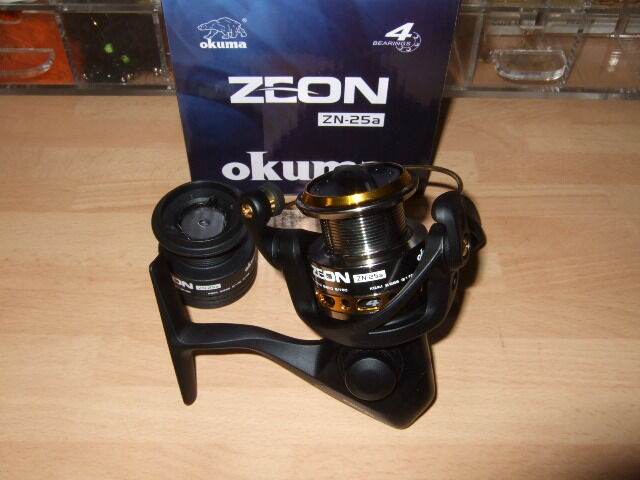 Okuma Zeon 25 Spinning Reel - Front Drag 2500  (4 Bearings) Lrf Lure + 10lb RZ8  in stadium promotions