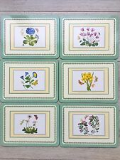 Portmeirion Botanic Garden Placemats x 6 Cork Backed