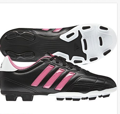 ff11b8572d625 NWT ADIDAS BLACK PINK SOCCER CLEATS YOUTH GIRLS SIZE 2.5 2 1/2 GOLETTO IV