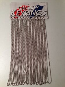 "24 New 36"" Bead Chains on Hanging Display Card"