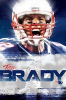 Tom Brady Intensity England Patriots Nfl Football Official Wall Poster