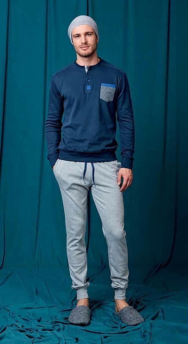 Pigiama  Homewear  Herren QBO' Cotone caldo Manica Lunga / Pantalone lungo
