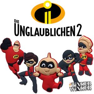 Die-Unglaublichen-2-Schuh-Pins-Crocs-The-Incredibles-2-Disney-Baby-jibbitz