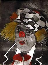 Olek Popov Clown II Aquatinta Radierung HEINZ BRAYER DIEKEN Emden Ostfriesland