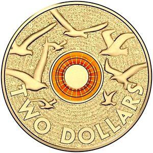 PNC Australia 2015 Remembrance Day RAM $2 Orange Coloured Coin