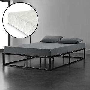 En Casa Metallbett Schwarz Mit Matratze Design Bett Schlafzimmer
