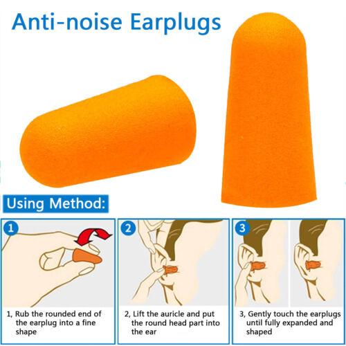 Lot Soft Form Ear Plugs Hearing Protection Travel Sleep Noise Shooting Earplugs