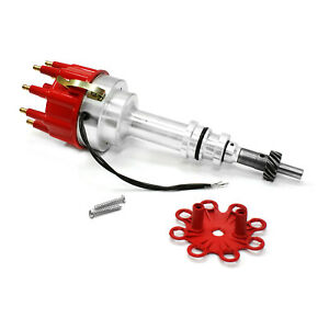 Ford-351W-Windsor-8000-Series-Pro-Billet-Distributor-Red