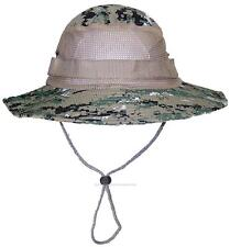 Tropic Hats Adult Camouflage Ripstop Boonie W/Mesh #905 NWU-3 Temperate Digital