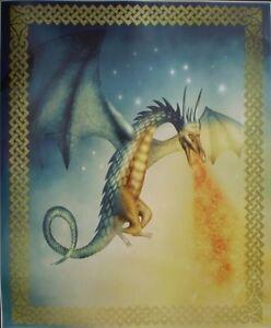 Super Soft Fire Breathing Dragon Fleece Throw Blanket 60 X 50 In. New