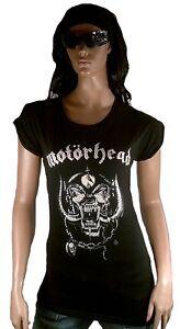 WoW-ASOS-Official-MOTORHEAD-ENGLAND-Strass-Diamante-Rock-Star-Tunika-T-Shirt-g-M