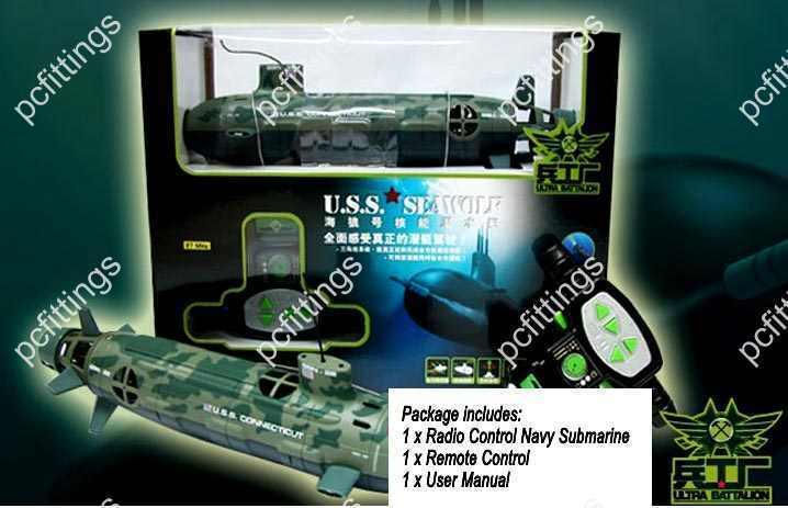 6 Channel Radio Control Remote Navy Submarine big boat (14 (L) x 4 (W) x 5.5 (H)