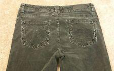 Seven7 Rocker Slim Black Corduroy Pants Size 12 P