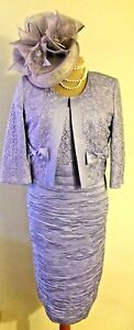 NEW-LIZABELLA-MOTHER-OF-THE-BRIDE-LILAC-DRESS-amp-JACKET