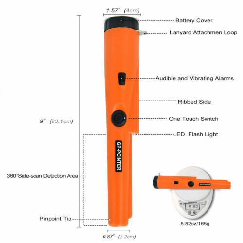 Metal Detector GP-POINTER Pro Pinpointer Probe Waterproof Sensitive Tester Tool