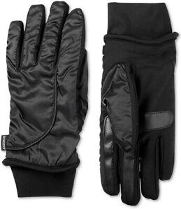 Isotoner-Womens-SleekHeat-smartDRI-Modern-Shape-Touchscreen-Gloves-Black-L-XL