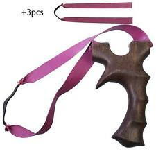 NEW Hunting Slingshot Catapult Powerful Sandal Wood +3x Rubber Bands Sling Shot