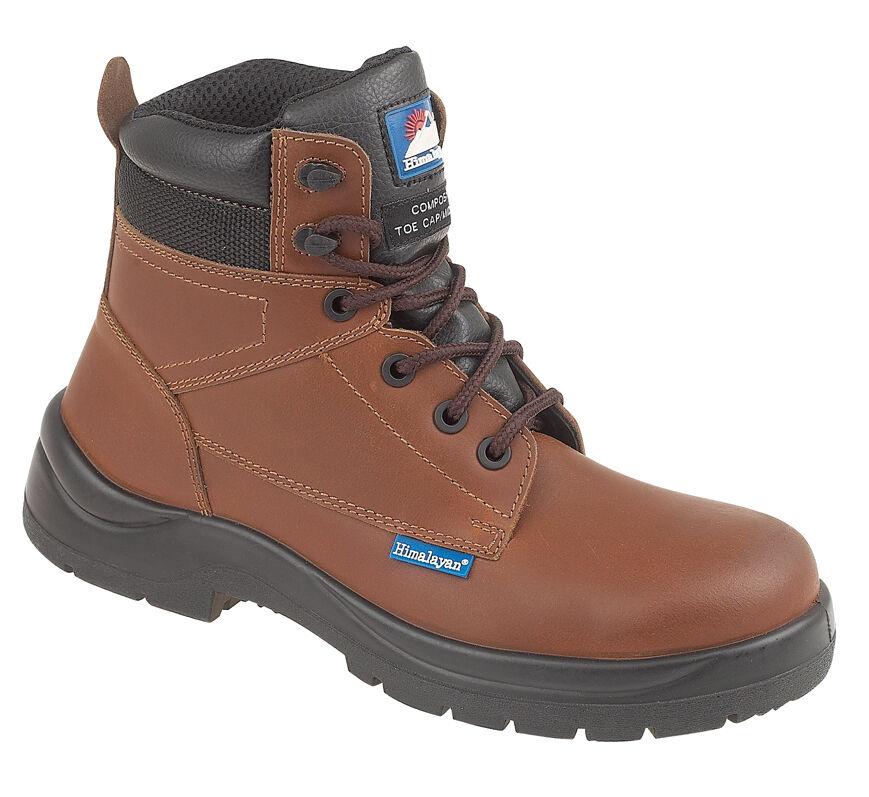 Himalayan 5119 s3 SRC Brown hygrip COMPOSITO Punta in metallo libero Stivali di Sicurezza PPE