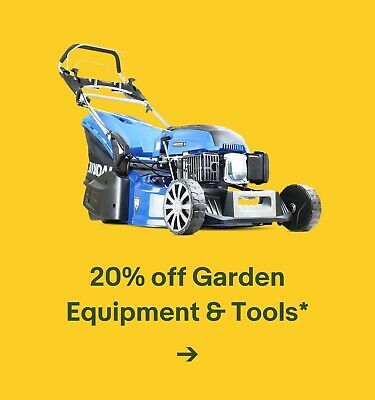 20% off Garden Equipment & Tools*
