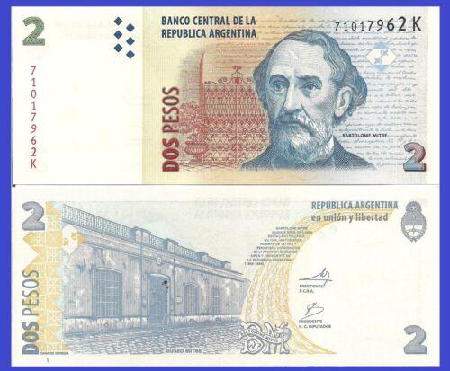 Argentina P352 Miltre Museum UNC  $3 Catalog Value 2 Pesos General Miltre