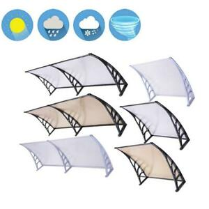 "40x120""/80""/40""/32""Door Window Outdoor Awning PC Hollow Sheet Shade Cover Canopy"