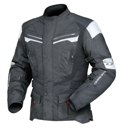 L Large Mens DriRider Apex 4 Sports Touring Jacket Motorbike Black White
