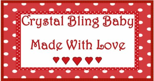 Pink Silver Glitter Shamballa Hearts Luxury Crystal Bling Baby dummy clip chain