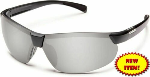 Suncloud Switchback Polarized Sunglasses Matte-Black /& Silver Mirror Lens