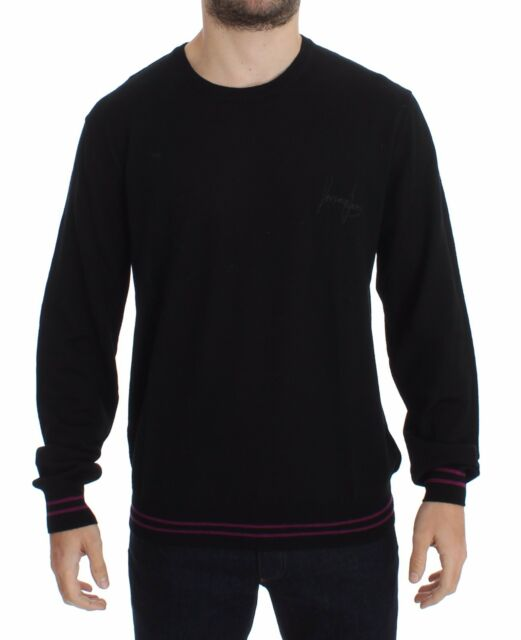 0bdb8513796c NWT  300 VERSACE JEANS COUTURE VJC Black Wool Crew-neck Pullover Sweater s.  XS