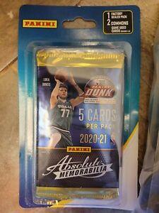 12x NBA Panini Absolute Memorabilia Basketball Cards Pack 2020-21 New Sealed