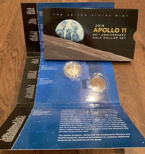 1 Coin 2019 S Apollo 11 Proof Clad Half Dollar W 50th Anniversary Set Packaging