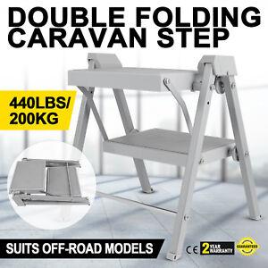 Double-Folding-Caravan-Step-Portable-Accessories-Ladder-Camper-Trailer-Parts