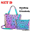 Luminous-Women-Geometric-laser-Tote-Shoulder-Bags-Laser-Plain-Folding-Handbags thumbnail 41