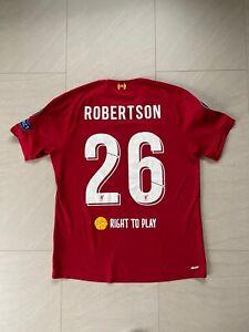 Andy Robertson Authentic 19/20 Lfc Liverpool Home Shirt Medium Champions
