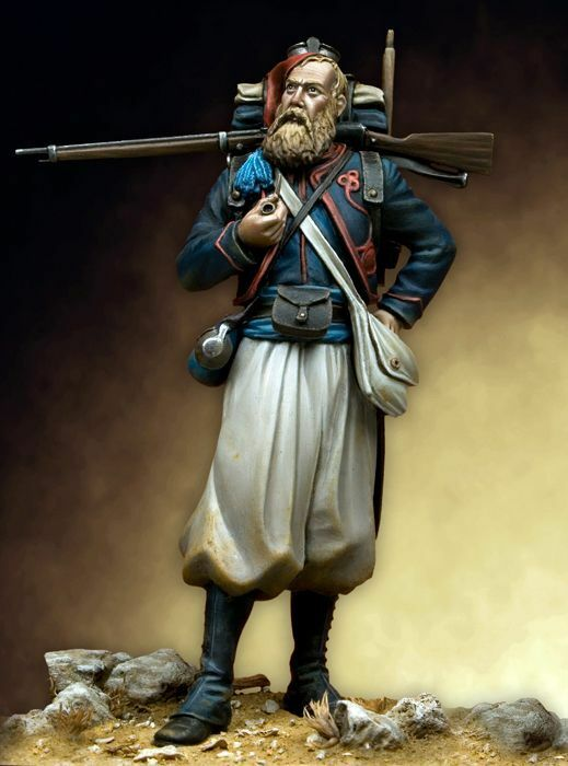Tin Soldier, Museum, French Zouave, Light Infantry, French Army, Soldier, 75mm