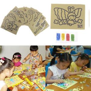 Bambini-fai-da-te-colore-sabbia-pittura-arte-disegno-creativo-giocattoli-sa-CRIT