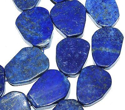 18-26mm freesize Indigo Lapis Lazuli flat slab Gemstone loose Beads 7pc