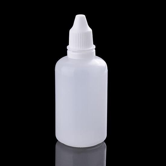 10X Small Empty Plastic Squeezable Bottles Practical Eye Liquid Dropper 50mL HOT