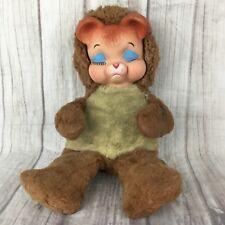 """Vintage Knickerbocker ? Rushton ? Pouting Rubber Face Sad Bear Plush 15"""" RARE"""