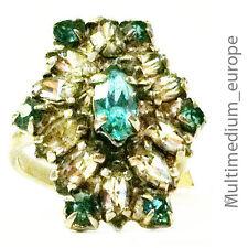 50er Jahre Modeschmuck Strass ring 50s fashion jewelry paste ring