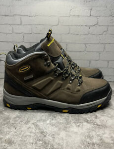 Skechers Pelmo Men's Brown Suede Ankle Hiking Boots 64869 Size 13